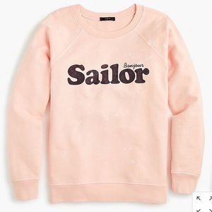 J.Crew Bonjour Sailor bleached graphic sweatshirt